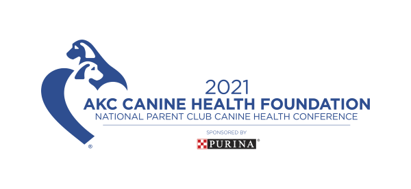 Logo of the 2021 AKC Canine Health Foundation National Parent Club Canine Health Conference