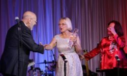 Photo of Fran Smith accepting 2015 President's Award
