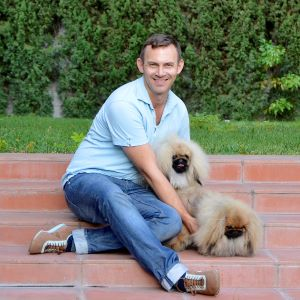Photo of Steven Hambling with his Pekingese.
